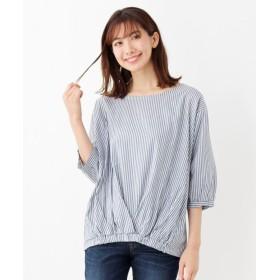 シャツ - SHOO・LA・RUE リボンカフスプリントシャツ