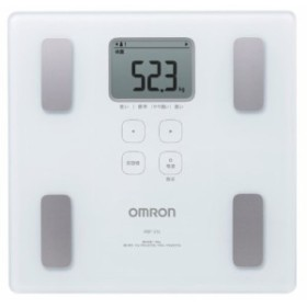 オムロン 体重・体組成計 カラダスキャン ホワイト HBF-214-W(新品未使用の新古品)