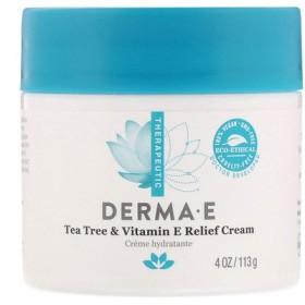 Tea Tree & Vitamin E Relief Cream, 4 oz (113 g)