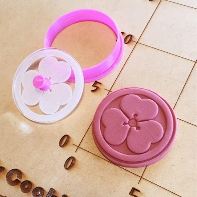 三遊亭好楽 丸に片喰 クッキーカッター・クッキー型