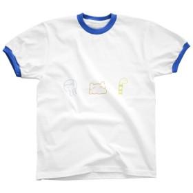 リンガーTシャツ *海の仲間たち* ブルー