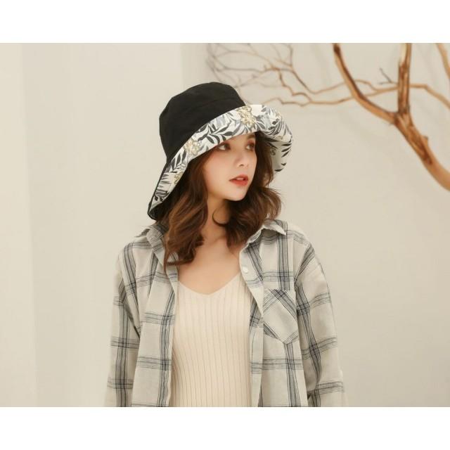 値下げ!!帽子 ハット レディース UVカット 両面使い 紫外線対策 小顔効果 オシャレ 折り畳み