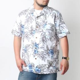 シャツ - MARUKAWA アロハ シャツ 大きいサイズ メンズ 夏 オープンカラー 綿 全13色 2L/3L/4L/5L【半袖 開襟 プリント 総柄 裏使い】