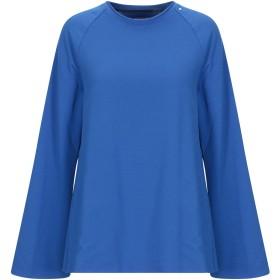 《期間限定セール開催中!》,MERCI レディース スウェットシャツ ブルー XS コットン 95% / ポリウレタン 5%
