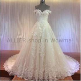 ウェディングドレス 幻想的なウェディングドレスオフショルダーブライダルガウンボール手作りサイズ6 8 10 12 14  Fant