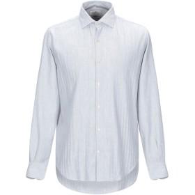 《期間限定セール開催中!》BROOKSFIELD メンズ シャツ ライトグレー 40 コットン 100%