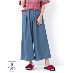 パンツ 大きいサイズ レディース 綿100% ライトオンス デニム スカーチョ  L〜10L ニッセン