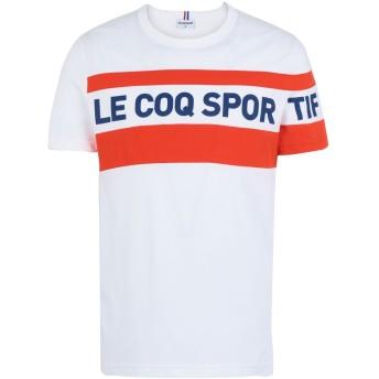 《セール開催中》LE COQ SPORTIF メンズ T シャツ オレンジ S コットン 100% ESS SAISON Tee SS N°3