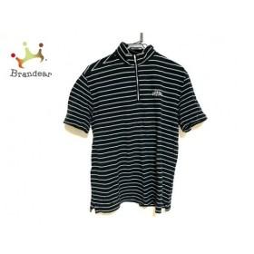 キャロウェイ CALLAWAY 半袖ポロシャツ サイズL メンズ 美品 黒×白 ボーダー   スペシャル特価 20190814
