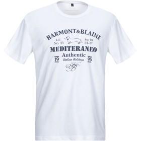 《セール開催中》HARMONT & BLAINE メンズ T シャツ ホワイト L コットン 100%