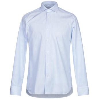 《期間限定セール開催中!》CALIBAN メンズ シャツ スカイブルー 39 コットン 100%