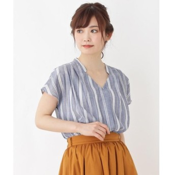 grove / グローブ 【WEB限定サイズあり】リネン調スキッパーシャツ