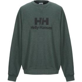 《期間限定 セール開催中》HELLY HANSEN メンズ スウェットシャツ グリーン XL コットン 70% / ポリエステル 30%