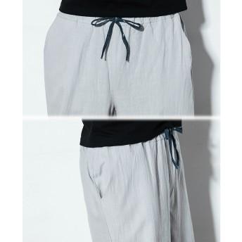 その他パンツ・ズボン - BIG BANG FELLAS 気分を変える メンズ チャイナ リラックスパンツ 七分丈 クロップドパンツ イージーパンツメンズファッション ストリート 春 夏 サマー 個性 韓国 衣装