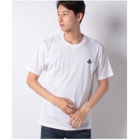WEGO WEGO/マスタッシュワンポイント刺繍Tシャツ(ホワイト)【返品不可商品】
