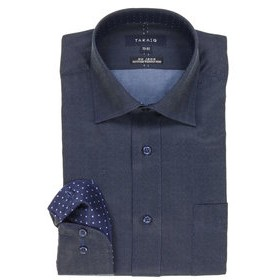【TAKA-Q:トップス】形態安定レギュラーフィットワイドカラー長袖ビジネスドレスシャツ