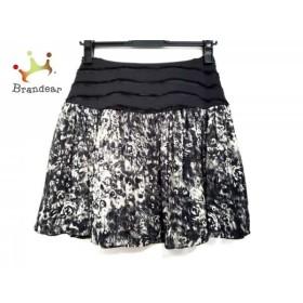 マニアニエンナ MANIANIENNA スカート サイズF レディース 美品 黒×アイボリー×グレー   スペシャル特価 20190829