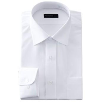 【首回り34cm-50cmまで100サイズ!】長袖 形態安定白ドレスシャツ (メンズ) シロ