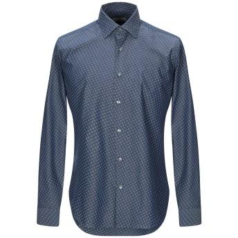 《期間限定セール開催中!》GHIRARDELLI メンズ デニムシャツ ブルー 39 コットン 100%