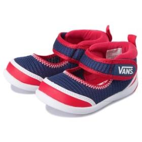 ベビー 【VANS】 ヴァンズ ベビーシューズ U-TA V7009N BABY NAVY/RED 14cm