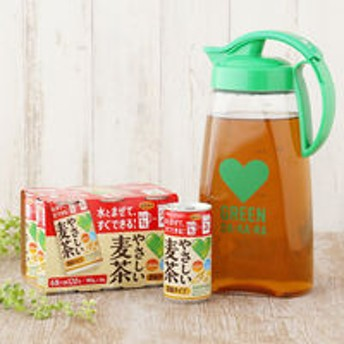【おまけ付】サントリーフーズ GREEN DA・KA・RA(グリーンダカラ) やさしい麦茶 濃縮タイプ 180g 6缶パック+ オリジナル 2Lポット 1個