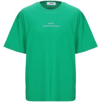 《9/20まで! 限定セール開催中》MSGM メンズ T シャツ グリーン S コットン 100%
