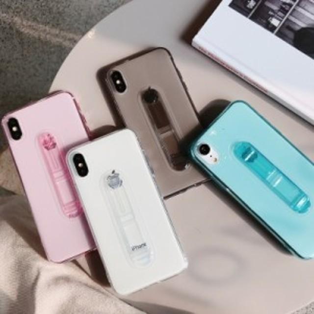 送料0★ベルト付 クリア シンプル 5色 iPhone6 iPhone7 iPhone8 iPhoneX iPhoneXS iPhoneXSMAX iPhoneXR iPhone ケース