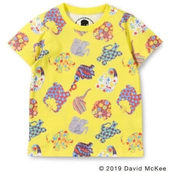【40%OFF】 ブランシェス 総柄プリントTシャツ(90~130cm) レディース イエロー 90cm 【branshes】 【セール開催中】