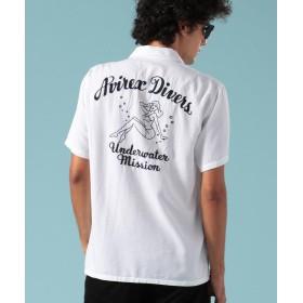 アヴィレックス ボーリングシャツ アヴィレックス ダイバーズ/BOWLING SHIRT AVIREX DIVERS メンズ OFF/WHITE XL 【AVIREX】