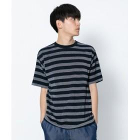 SENSE OF PLACE(センスオブプレイス) トップス Tシャツ・カットソー カノコボーダーTシャツ(半袖)