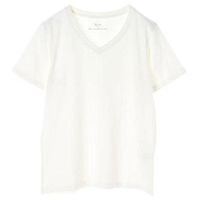 イーハイフンワールドギャラリー E hyphen world gallery VネックTシャツ (Off White)