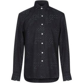 《期間限定 セール開催中》DOPPIAA メンズ シャツ ダークブルー 40 コットン 100%