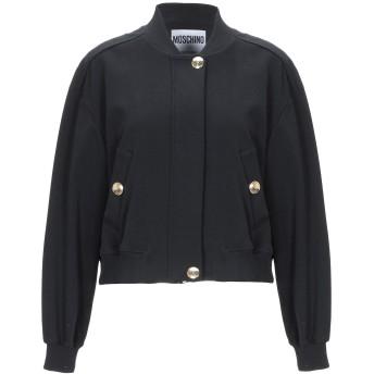 《期間限定セール開催中!》MOSCHINO レディース スウェットシャツ ブラック 44 コットン 97% / 指定外繊維 3%