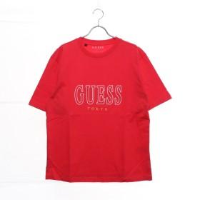 ゲス GUESS MEN'S S/SLV TEE SHIRT LOOSE FIT_TOKYO LINE (RED)