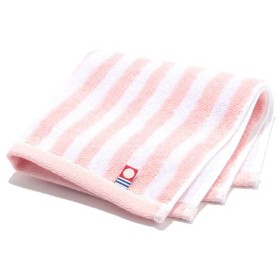 HOME COORDY 今治製タオルハンカチ ストライプ ピンク ホームコーディ ハンドタオル