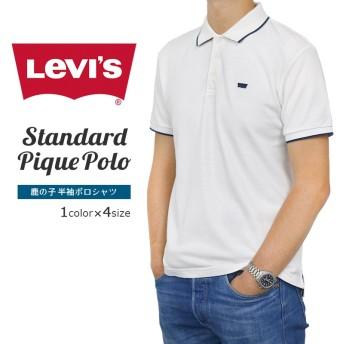 《Qoo10最低価格保証》リーバイス カジュアル メンズ 半袖 トップス LEVIS 66798-00L01 STD ピケ ポロシャツ 爽やか ホワイト 白【ネコポス配送】
