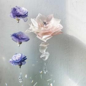 オーガンジーがお部屋で舞う お花のサンキャッチャーキットの会 フェリシモ FELISSIMO【送料:450円+税】