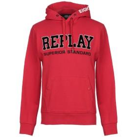 《期間限定 セール開催中》REPLAY メンズ スウェットシャツ レッド XL コットン 100%