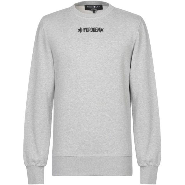 《セール開催中》HYDROGEN メンズ スウェットシャツ ライトグレー XS コットン 100%