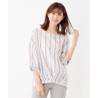SHOO・LA・RUE(シューラルー) リボンカフスプリントシャツ