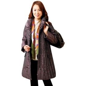 【レディース】 シャンブレー素材美シルエットダウンコート - セシール ■カラー:ボルドー ■サイズ:3L,M,LL