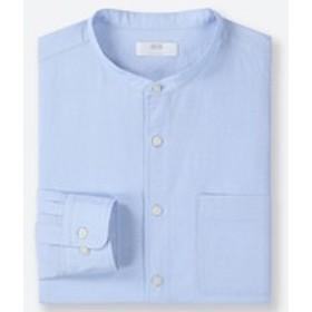 リネンコットンスタンドカラーシャツ(長袖)