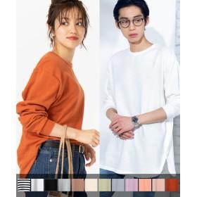 Tシャツ - WEGO【WOMEN】 【WEB限定】ワッフルラウンドロンT BS18AU11-M001