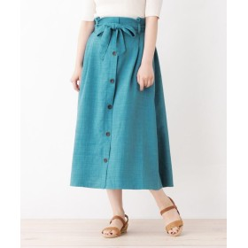 grove(グローブ) 【WEB限定サイズあり】リネンタッチフロントボタンスカート