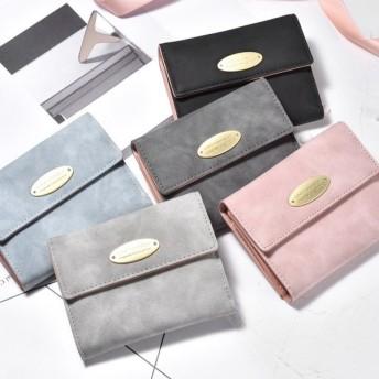 財布 ウォレット 二つ折り財布 カードケース カード入れ がま口 小銭入れ フェイクレザー レディース 軽量