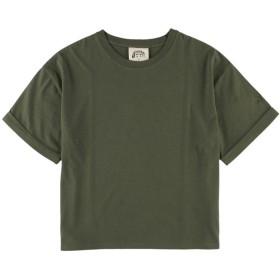 アースミュージックアンドエコロジー earth music & ecology ゆるTシャツ (Khaki)