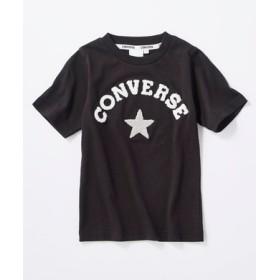 CONVERSE ロゴデザインTシャツ キッズ ブラック