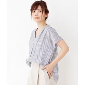 grove(グローブ) 【WEB限定サイズあり】リネン調スキッパーシャツ