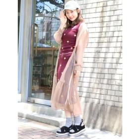 【ダズリン/dazzlin】 フード付シアーガウン