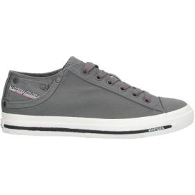 《セール開催中》DIESEL レディース スニーカー&テニスシューズ(ローカット) 鉛色 36 紡績繊維